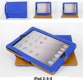 Apple iPad 2;Apple iPad 3;Apple iPad 4 Smart Tablethoes Blauw voor bescherming van tablet
