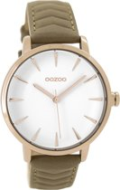 OOZOO Timepieces Camel/Wit horloge  (40 mm) - bruin