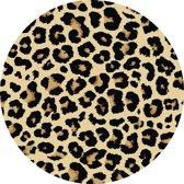 Vloerkleed rond | Luipaard  |Vinyl | 100cm
