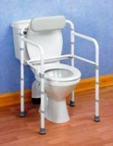 Toiletkader met rugleuning Uniframe, opvouwbaar zonder zitting