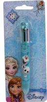 Disney Frozen 8 Kleuren Pen - Balpen -  Tekenen - Knutselen - Blauw