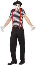 Mime outfit voor mannen  - Verkleedkleding - XL