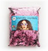 Confetti metallic round 10mm - 250 gram - baby pink