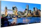 Skyline en tower bridge in Londen Aluminium 30x20 cm - Foto print op Aluminium (metaal wanddecoratie)