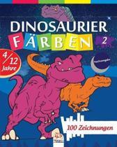 Dinosaurier f�rben 2 - Nachtausgabe: Malbuch f�r Kinder von 4 bis 12 Jahren - 25 Zeichnungen - Band 2