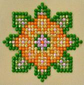 Diamond Dotz ® painting Flower Mandala 1 (7,6x7,6 cm) - Diamond Painting