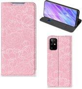 Samsung Galaxy S20 Plus Telefoon Hoesje White Flowers