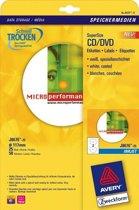 Huismerk Avery J8676-25 CD/DVD Inkjet Etiket