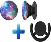 Button in de PopSocket style - Inclusief ophang clip - Voor Telefoon/tablet - Blue Nebula