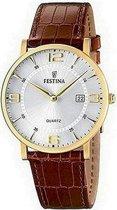 Festina F16478/3 Klassiek - Horloge  - Staal  - Doublé - Ø 40 mm