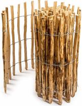 Floranica® - geïmpregneerde schapenhek in 14 maten, met goed gespleten, gelijke staven en veilige punten als een tuinhek, hek, vijver hek, houten hek. Soort: Hazelaarhout (Corylus avellana L) - Lengte: 5m, palenafstand 8-10cm, Hoogte 120cm