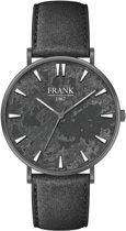 Frank 1967 Watches 7FW 0020 Stalen Horloge met Leren Band - Ø42 mm - Grijs