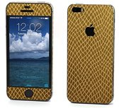 Xssive Sticker wrap Slangen Print Goud voor Apple iPhone 5 / 5s / SE Duo Pack - 2 stuks