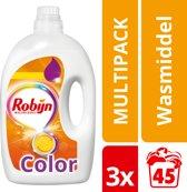 Robijn Vloeibaar Color Wasmiddel - 135 wasbeurten - 3 x 2,250 ml