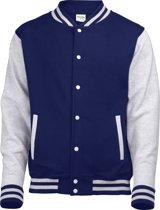 AWDis Varsity jacket, Oxford Navy/Heather Grey, Maat XL