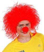 Rode clown pruik voor kinderen - Verkleedpruik