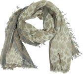 Sjaal Bruin Gevlekt 90 x 180 cm