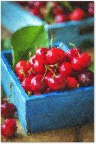 Outdoor Canvas Schilderij - Stilleven met kersen - Fruit