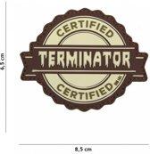 101 Inc Embleem 3D Pvc Terminator Coyote  17071