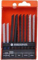 Decoupeerzagen decoupeer zaagbladen set 10 stuks voor hout en staal