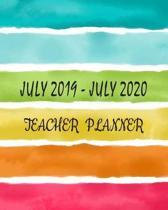 July 2019 - July 2020 Teacher Planner