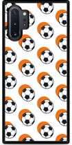 Galaxy Note 10 Plus Hardcase hoesje Soccer Ball Orange Shadow