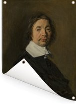 Portret van een man - Kunstwerk van Frans Hals Tuinposter 30x40 cm - klein - Tuindoek / Buitencanvas / Schilderijen voor buiten (tuin decoratie)
