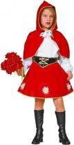 Roodkapje kostuum voor meisjes 128