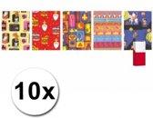 10 rollen Sinterklaas kadopapier 200 x 70 cm - cadeaupapier / inpakpapier