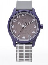 Q&Q RP00J052Y Smile Solar horloge 40 mm 50 meter paars/ grijs
