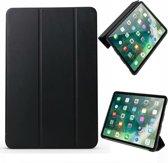 Let op type!! ENKAY Lambskin textuur + TPU onderste horizontale Flip leder geval voor iPad Pro 11 inch (2018)  met drie-vouwen houder & slaap / Wake-up functie (zwart)