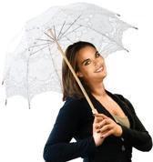 ComfortTrends Paraplu kant Bescherming tegen de zon - Stijl: barok