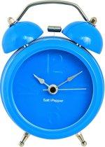Salt&Pepper Zone Klok - 9 cm - Wekkerfunctie - blauw