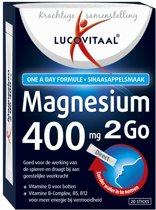 Lucovitaal - Magnesium 400 mg 2 go - 20 sticks - Voedingssupplement