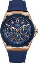GUESS Watches -  W1049G2 -  horloge -  Mannen -  RVS - Blauw -  45  mm