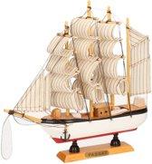 Decoratie houten model Passat 4 masten 24 cm - Schaalmodel schepen - Maritieme woondecoraties