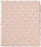Cottonbaby Dekenhoes ledikant Dot 3d melee roze