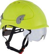 Cerva Alpinworker Lichte Bouwhelm Veiligheidshelm met veiligheidsbril – Hi-Vis geel