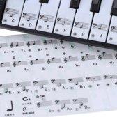 RX Goods® Piano Stickers met Muzieknoten - 49, 61 & 88 Toetsen – Keyboard