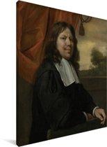Zelfportret - Schilderij van Jan Steen Canvas 60x80 cm - Foto print op Canvas schilderij (Wanddecoratie woonkamer / slaapkamer)