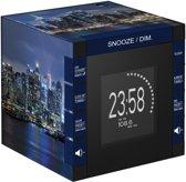 Bigben RR70PNYBYNIGHT Wekker en Radio met Projectie - Kubus - New York Skyline - Zwart/Blauw