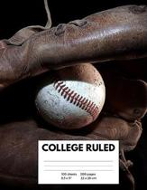 Composition Notebook: Baseball College Ruled Lined Pages Book (8.5 x 11)