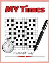MY Times Crosswords Easy: Quick Crossword Collection, USA Word Search, Puzzles, Facts, and Fun Ultimate Word Puzzle Book for Adults Teenagers an