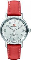 River Woods RW340008 Vermillion horloge Vrouwen - Rood - Leer 34 mm