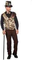 Steampunk Kostuum | Steampunk Vest Klokkenspel Man | Maat 52 | Carnaval kostuum | Verkleedkleding