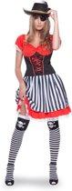 Piraat Jurk Vrouw - 2-delig- Verkleedkleding - Maat S/M