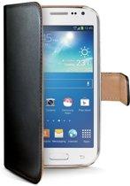 Samsung Galaxy Core (LTE) Echt Leer Hoesje Zwart