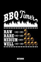 Bbq Timer Raw Rare Medium Well Notebook: Food Daily Food Journal I Food Diary I Daily Food Tracker I Food Log Book I Track meals for weight loss and d
