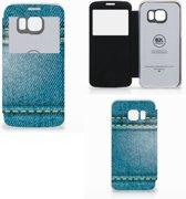 Samsung Galaxy S6 Edge Wallet Case met Pasjes Jeans