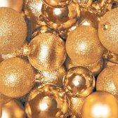 Kerst servetten gouden kerstballen 40 stuks - wegwerpservetten